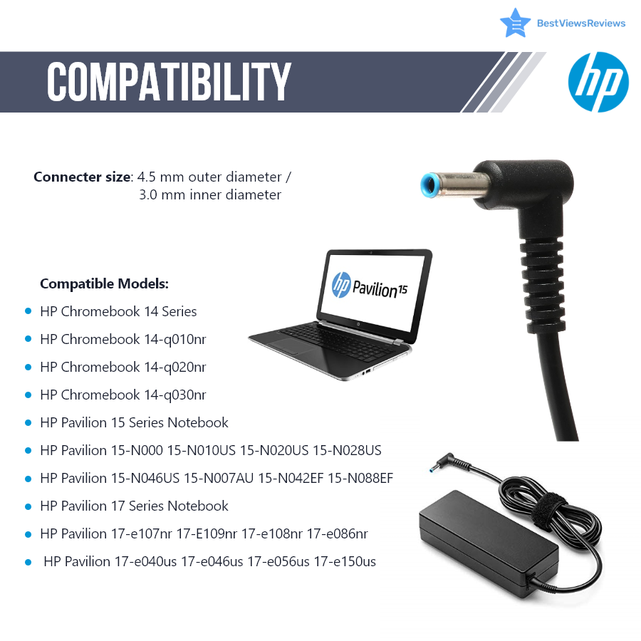 HP laptop chargers compatibility