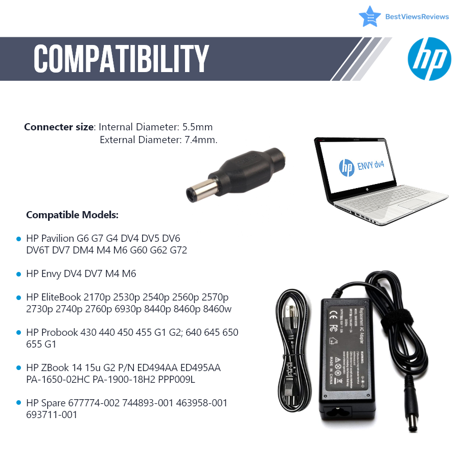 HP chargers and compatibility